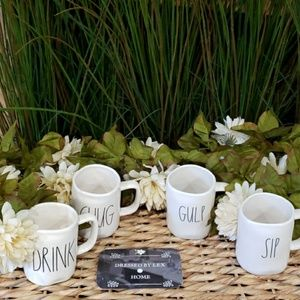 VHTF NWT Rae Dunn DRINK CHUG GULP SIP Mug Set